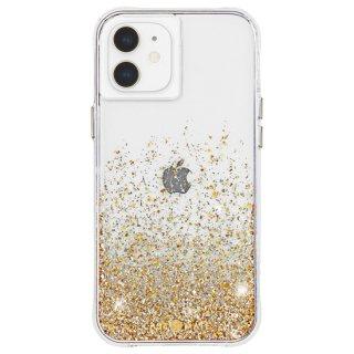 【金色に美しく輝く抗菌ケース】iPhone 12 mini Twinkle Ombré - Gold w/ Micropel