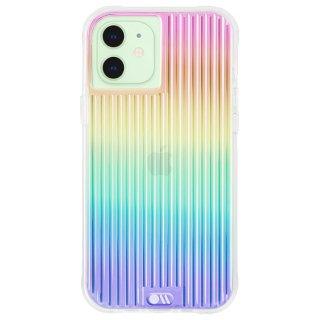 【虹色に輝くデザイン抗菌ケース】iPhone 12 mini Tough Groove Iridescent w/ Micropel