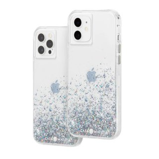 【美しく輝く抗菌ケース】iPhone 12 / iPhone 12 Pro Twinkle Ombré - Black w/ Micropel
