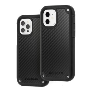 【Pelican × Case-Mate】抗菌ケース iPhone12/iPhone 12 Pro Pelican Shield - Black Kevlar w/ Micropel ホルスターセット