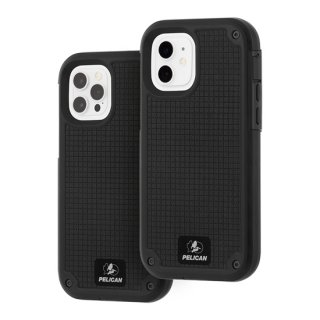 【Pelican × Case-Mate 】抗菌ケース iPhone12/iPhone12 Pro Pelican Shield-Black G10 w/Micropel ホルスターセット
