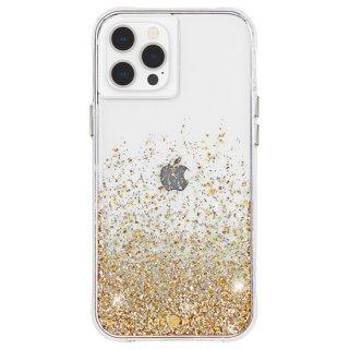 【金色に美しく輝く抗菌ケース】iPhone 12 Pro Max Twinkle Ombré - Gold w/ Micropel