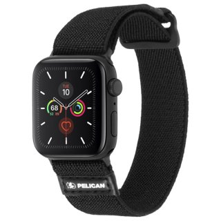 【Pelican × Case-Mate】Apple Watch 6,SE,5,4,3,2,1(38mm/40mm) 抗菌バンド Protector Band - Black