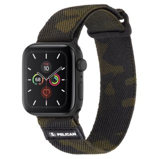 【Pelican × Case-Mate】Apple Watch 6,SE,5,4,3,2,1(38mm/40mm) 抗菌バンド Protector Band - Camo Green