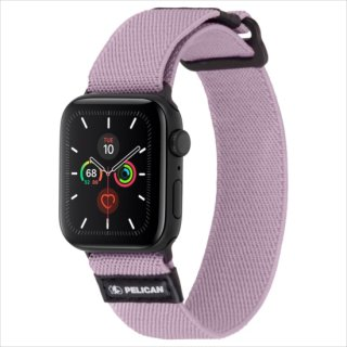 【Pelican × Case-Mate】Apple Watch 6,SE,5,4,3,2,1(38mm/40mm) 抗菌バンド Protector Band - Mauve Purple