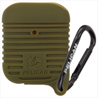 【Pelican × Case-Mate】AirPods 抗菌・防塵・防水・耐衝撃ケース AirPods Protector - Olive Green