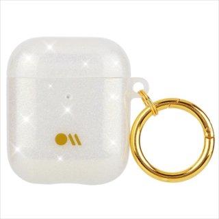 【キラキラと輝く・AirPods 第1世代・第2世代・ワイヤレス充電もOK+抗菌仕様】 AirPods Case Shimmer - Crystal