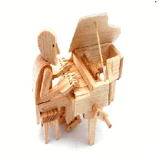 オートマタ/Pianist <br>木製カラクリ組み立てキット
