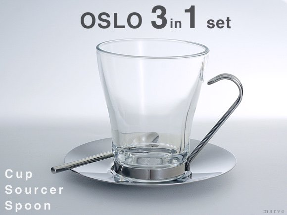 OSLO CAPPUCCINOカップセット 3 in 1<img class='new_mark_img2' src='https://img.shop-pro.jp/img/new/icons55.gif' style='border:none;display:inline;margin:0px;padding:0px;width:auto;' /> グッズ