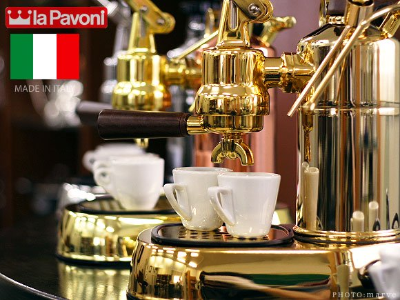 "la Pavoni パボーニ""PROFESSIONAL""PDH 【GOLD】ゴールドボディ エスプレッソマシン<img class='new_mark_img2' src='https://img.shop-pro.jp/img/new/icons16.gif' style='border:none;display:inline;margin:0px;padding:0px;width:auto;' /> グッズ"