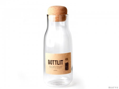 BOTTLIT(ボトリット) ガラスキャニスター 600ml<img class='new_mark_img2' src='https://img.shop-pro.jp/img/new/icons55.gif' style='border:none;display:inline;margin:0px;padding:0px;width:auto;' />
