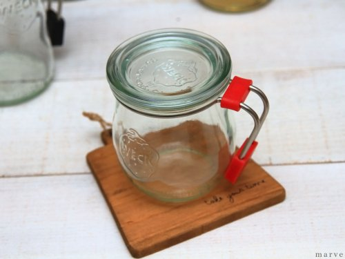 【OUTLET】WECK MUG  RED ウェックマグ赤 200ml ガラス蓋付き