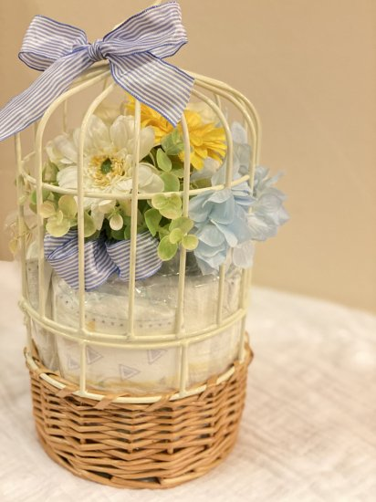 Natural Basket (blue)