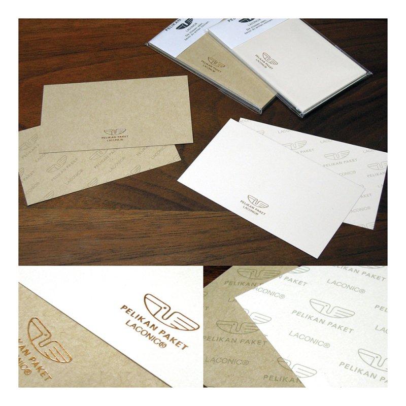PELIKAN PAKET ミニメッセージカード(5枚入り)【ベージュ】LTW16-28BE