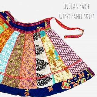 インドサリー ジプシーパネルスカート 02 ◆ インド 民族衣装 ボヘミアン ラジャスタン ベリーダンス インド舞踊