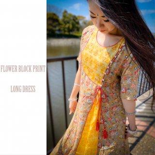 Block print dress #3◆ブロックプリント ワンピース◆インドボヘミアン