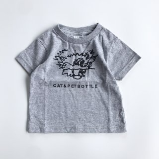 SPUT performance / CAT&PETBOTTLE Kids T-shirt(Afraid)- gray