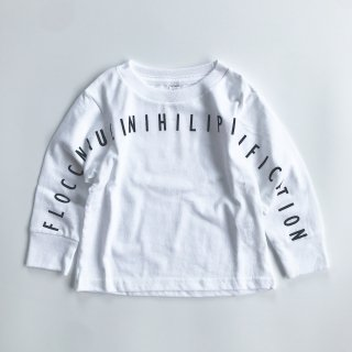 SPUT performance / Floccinaucinihilipilification Kids L/S T-shirt - white