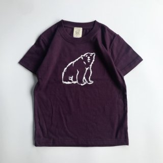 shirokuma / shirokuma Logo Kids T-shirt - purple