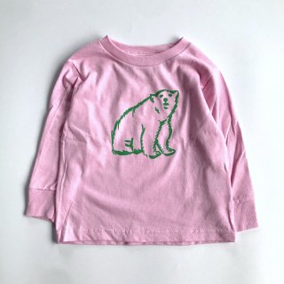 shirokuma / shirokuma  Logo Kids LS T-shirt - light pink