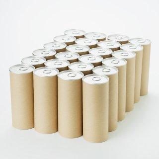 クラフト紙缶 大(内径 63mm x 高さ168mm) 24缶単位