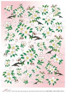 デコパージュ用アートペーパー「FUNE」ATHK02003 山桜
