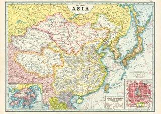Cavallini(カバリーニ):ラッピングペーパー-Asia Map