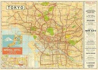 Cavallini(カバリーニ):ラッピングペーパー-Tokyo Map