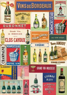 Cavallini(カバリーニ):ラッピングペーパー-Vin Francais