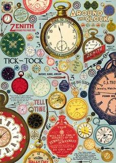 Cavallini(カバリーニ):ラッピングペーパー-Clocks