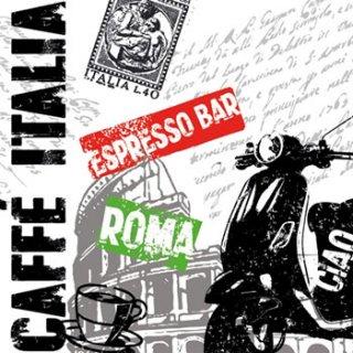 ペーパーナプキン(33)ppd:(5枚)Caffe Italia white-PP120