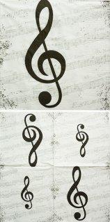 ペーパーナプキン(33)ppd:(5枚)I Love Music-PP144