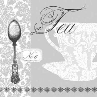 ペーパーナプキン(33)ppd:(5枚)Baroque Tea silver-PP148