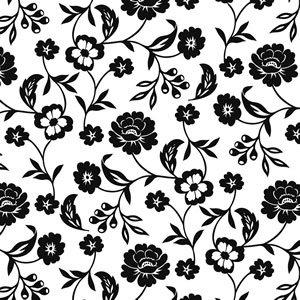 ペーパーナプキン(33)ppd:(5枚) Flowers black white-PP150