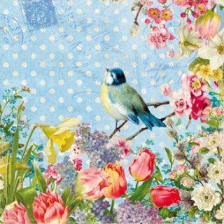 ペーパーナプキン(33)ppd:(5枚)Vintage Bird-PP152