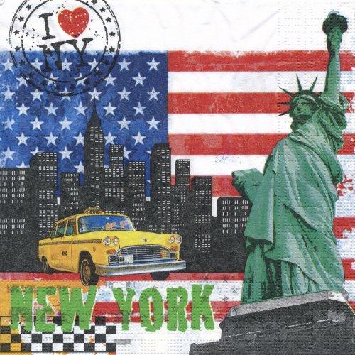 ペーパーナプキン(33)ppd:(5枚)New York City-PP157