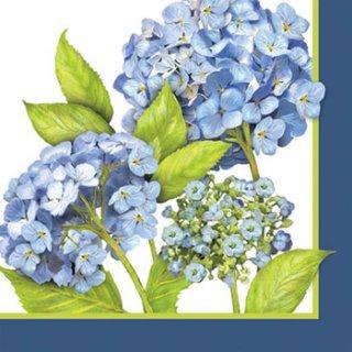 ペーパーナプキン(33)ppd:(5枚)Blue Hydrangea-PP171