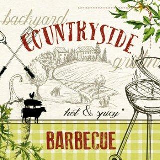 ペーパーナプキン(33)ppd:(5枚)Countryside BBQ-PP176