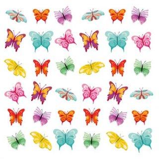 ペーパーナプキン(33)ppd:(5枚)Butterflies Collage-PP183