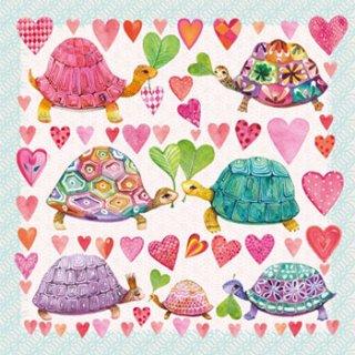 ペーパーナプキン(33)ppd:(5枚)Turtles in Love-PP187