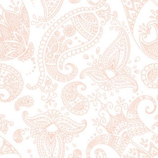 ペーパーナプキン(33)ppd:(5枚)Paisley white rose-PP254