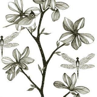 ペーパーナプキン(33)ppd:(5枚)English Garden black-PP267