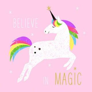 ペーパーナプキン(33)ppd:(5枚)Believe to Magic ピンク-PP269