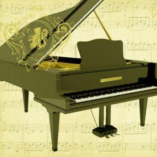 ペーパーナプキン(33)ppd:(5枚)Concerto Piano-PP271