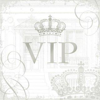 ペーパーナプキン(33)ppd:(5枚)VIP silver-PP278