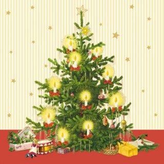 ペーパーナプキン(33)ppd:(5枚)Traditional Tree-PP282