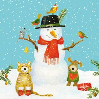 ペーパーナプキン(33)ppd:(5枚)Snowman & Friends-PP294