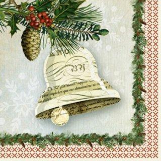 ペーパーナプキン(33)ppd:(5枚)Winter Lodge Bell-PP295