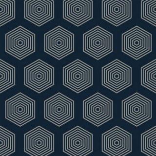 ペーパーナプキン(33)ppd:(5枚)Polygon blue-PP301