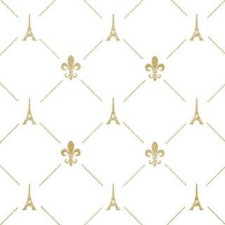 ペーパーナプキン(33)ppd:(5枚)French Style gold-PP303